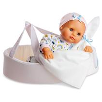 babypop met accessoires junior 34 cm wit 5-delig