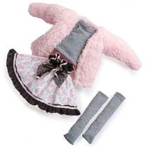poppenkleding meisjes 35 cm textiel roze 4-delig