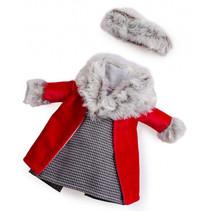 poppenjas meisjes 35 cm textiel rood 2-delig