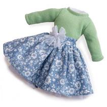 poppenkleding meisjes 35 cm textiel groen 2-delig