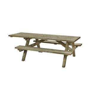Rolstoelpicknicktafel 160 x 230cm, 45mm dik, geïmpregneerd en gewaxd