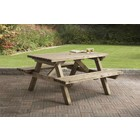 Picknicktafel 150 x 150cm, 45mm dik, geïmpregneerd en gewaxd