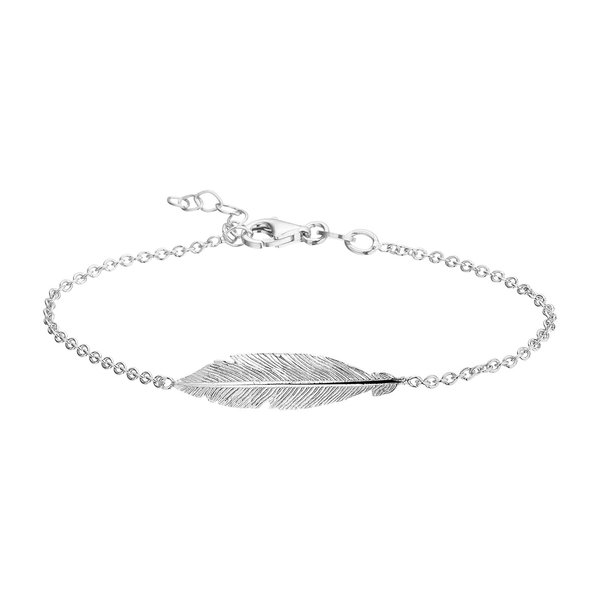 Selected Jewels Liv Hanne 925 sterling silver bracelet with little feather