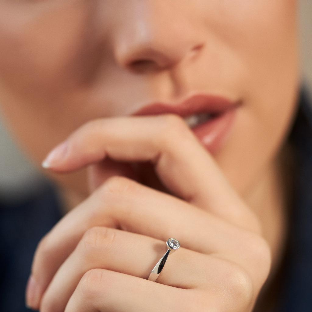 Selected Jewels Mila Elodie 925 sterling zilveren ring met zirkonia