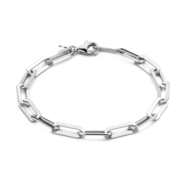 Selected Jewels Emma Jolie bracciale a maglie in argento sterling 925