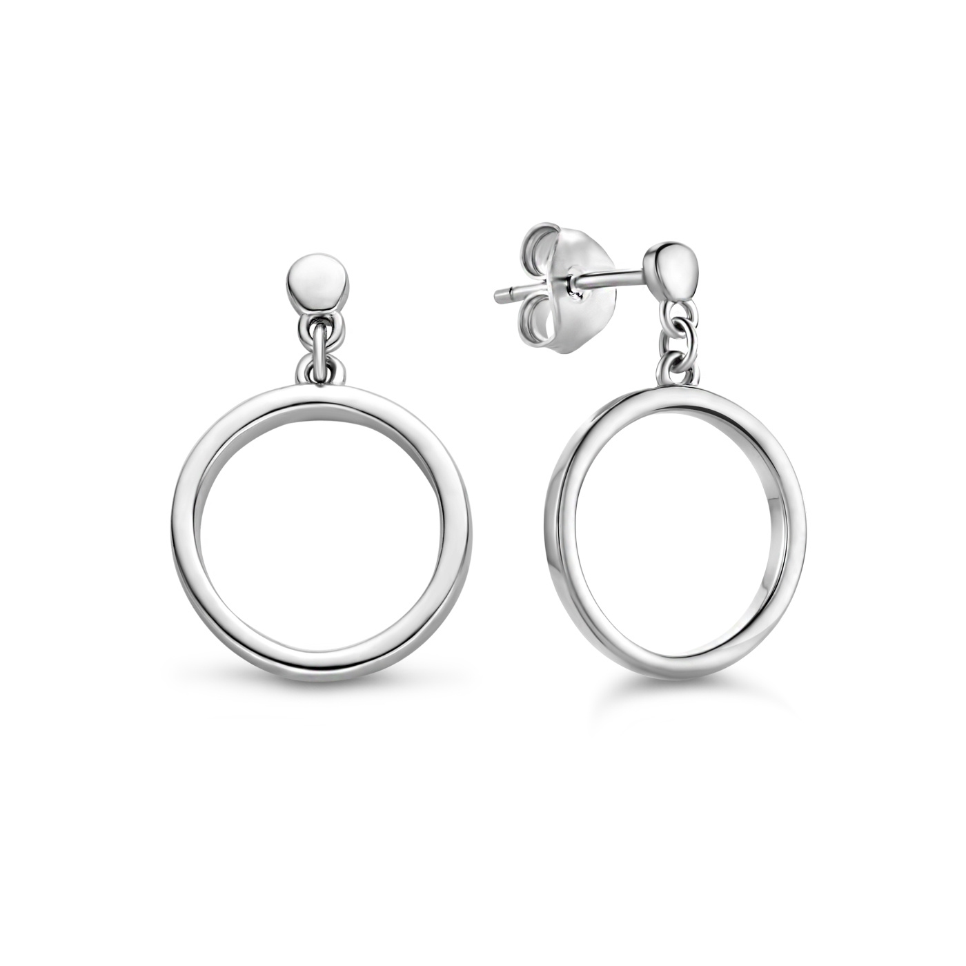 Selected Jewels Zoé 925 sterling silver drop earrings with circles