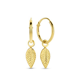 Selected Jewels Julie Lucie 925 sterling silver gold colored creoles