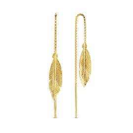 Selected Jewels Julie Lucie 925 sterling zilveren goudkleurige oorhangers