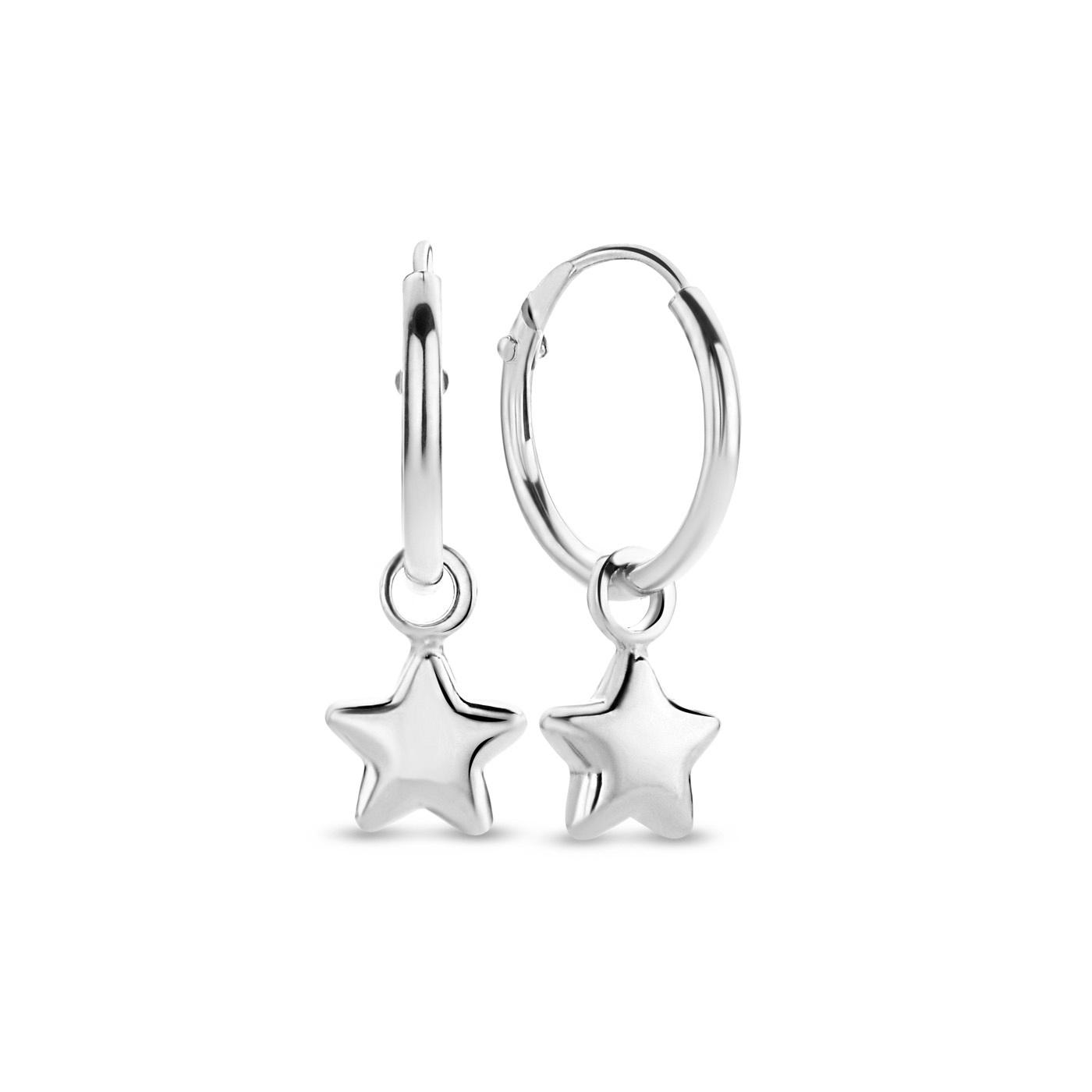 Selected Jewels Julie Esthée 925 sterling silver hoop earrings with stars