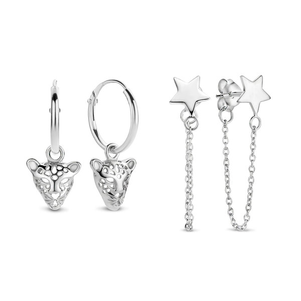 Selected Jewels Selected Gifts ensemble de boucles d'oreilles en argent sterling 925
