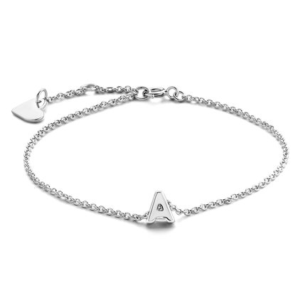 Selected Jewels Julie Chloé bracciale iniziale in argento sterling 925