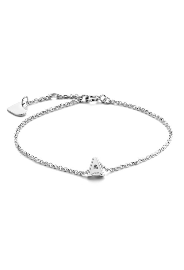 Selected Jewels Julie Chloé 925 sterling silver initial letter bracelet