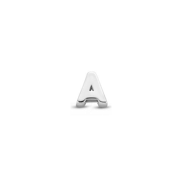Selected Jewels Julie Céleste 925 sterling zilveren initial enkele oorbel