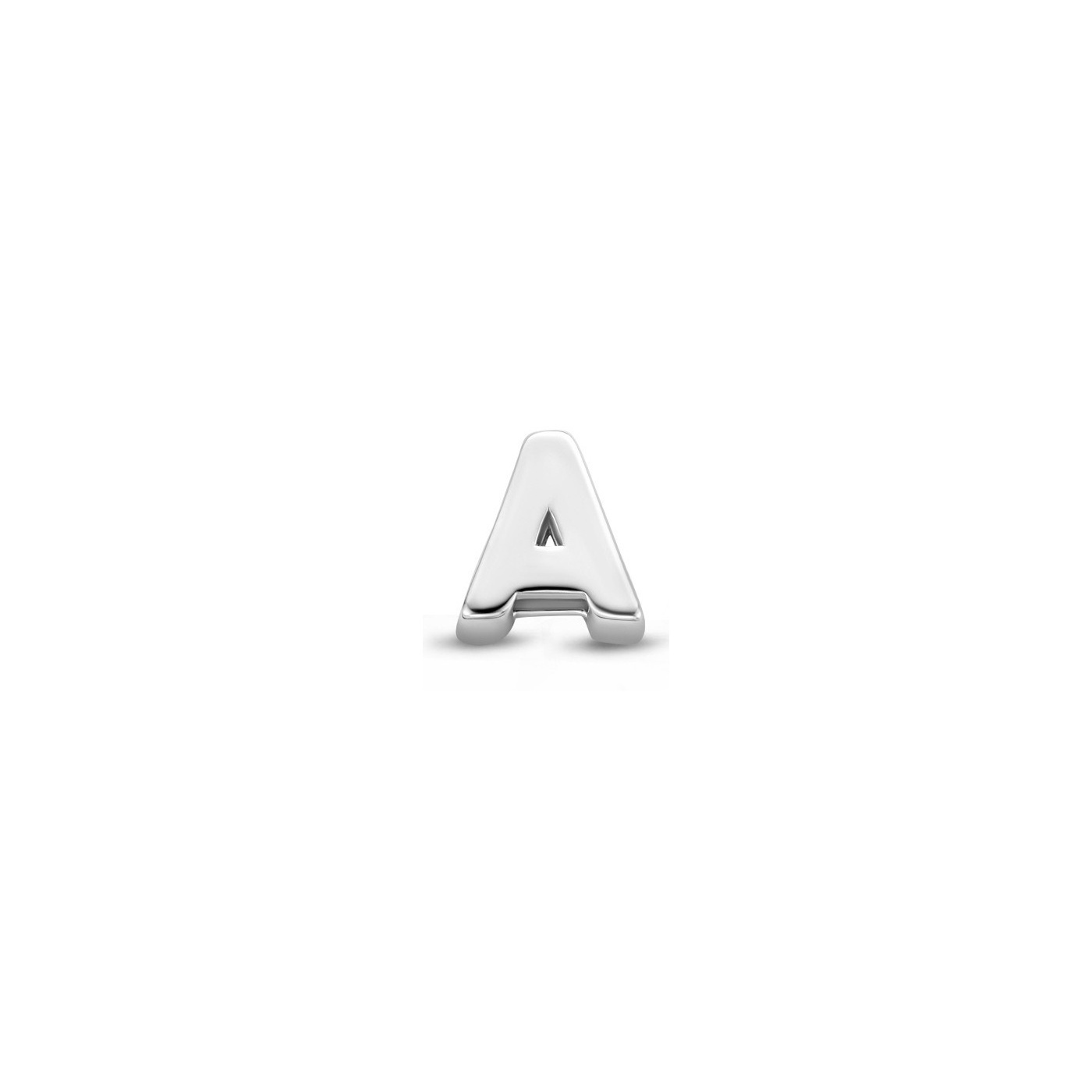 Silver Ear Stud With Letter Initial Letter Ear Stud Made Of Silver