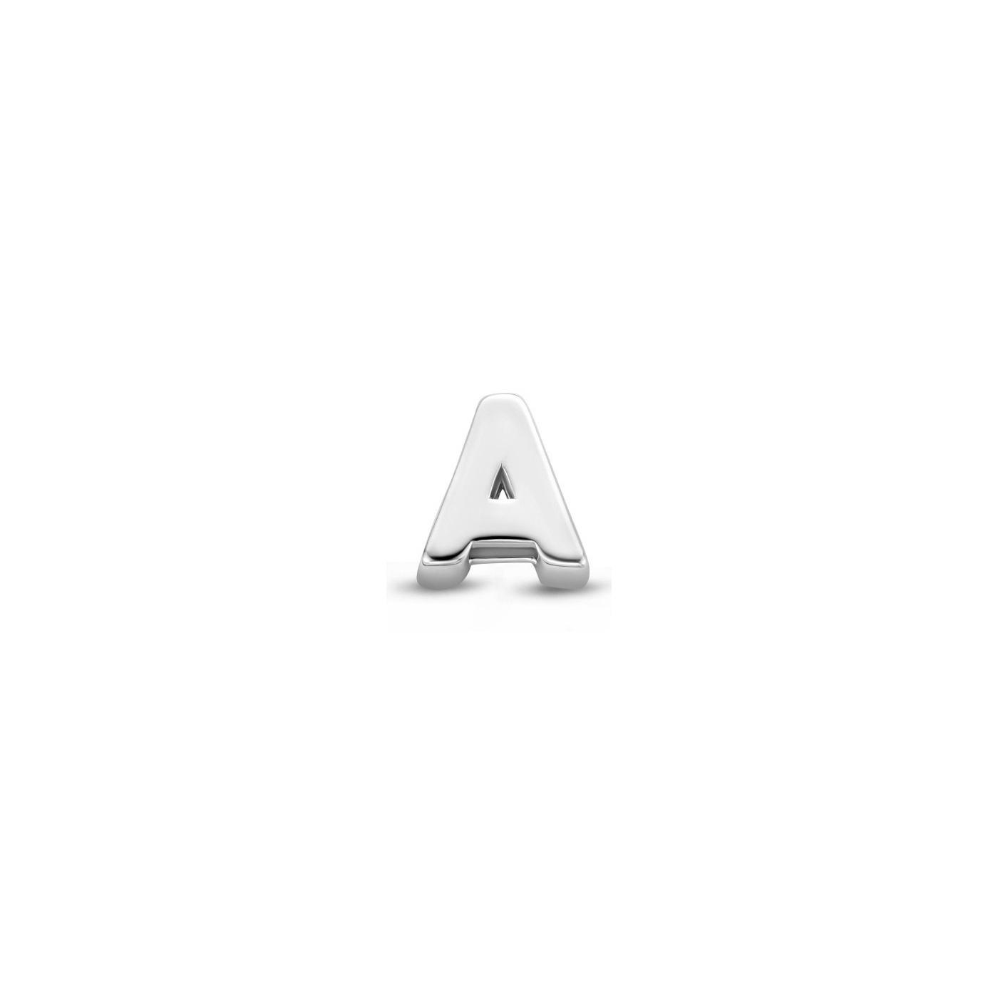 Selected Jewels Julie Chloé 925 sterling zilveren initial enkele oorbel met letter