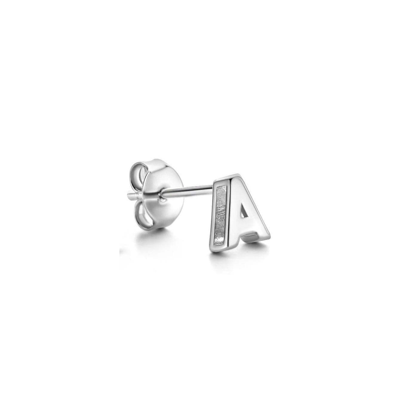 Selected Jewels Julie Chloé boucle d'oreille unique initiale en argent sterling 925