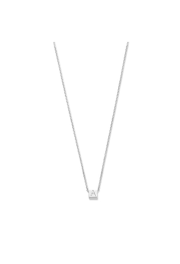 Selected Jewels Julie Chloé 925 sterling zilveren kubus initial ketting