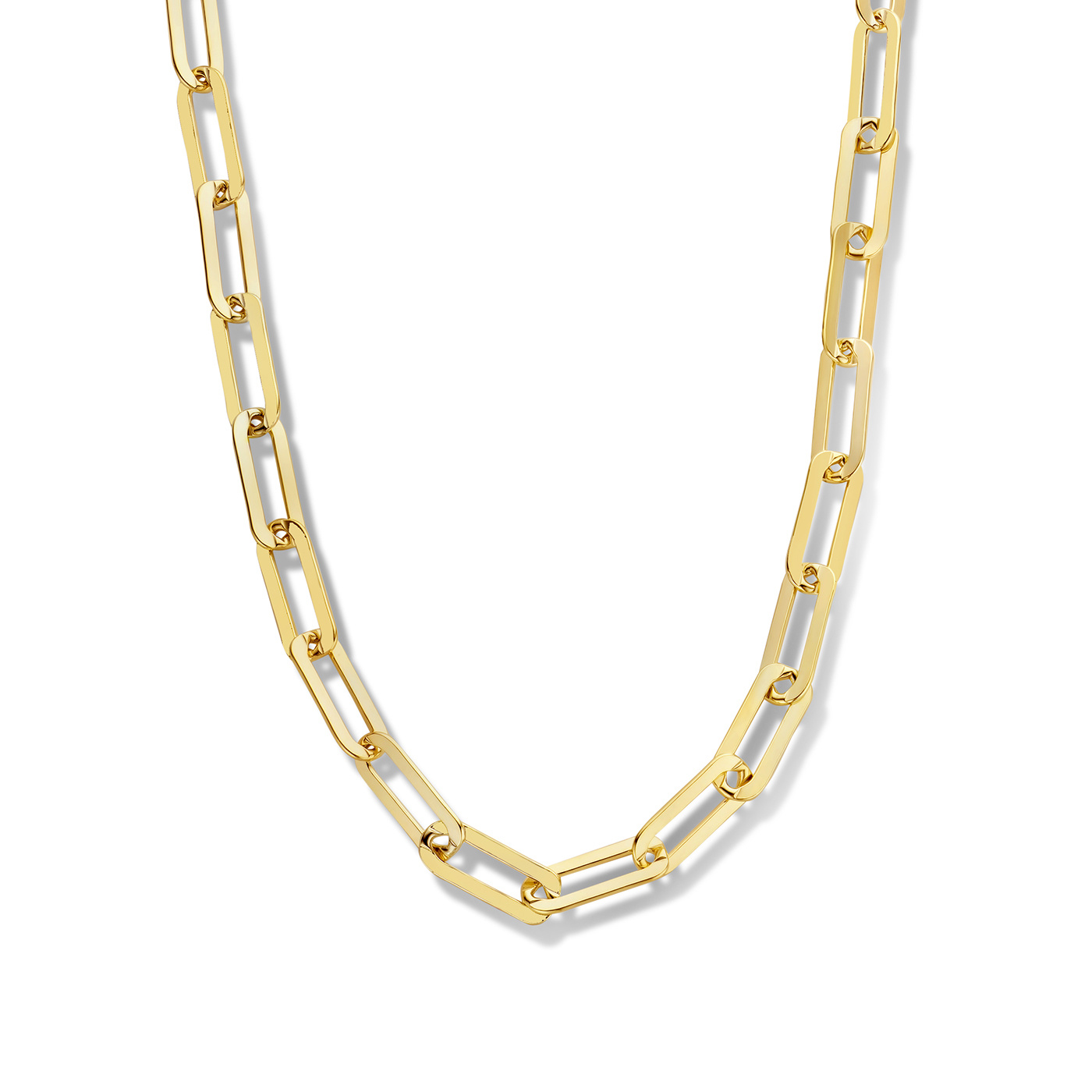Selected Jewels Lizzy Juna 925 sterling silver gold colored necklace