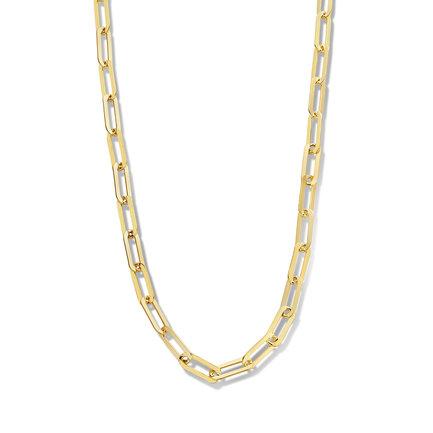 Selected Jewels Emma Jolie 925 sterling zilveren goudkleurige schakelketting