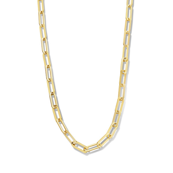 Selected Jewels Emma Jolie collana a maglie color oro in argento sterling 925