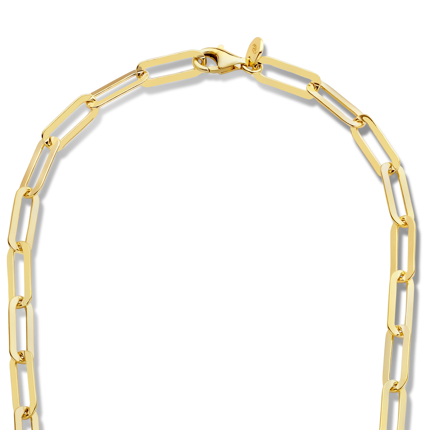 Selected Jewels Emma Jolie 925 sterling zilveren goudkleurige ketting