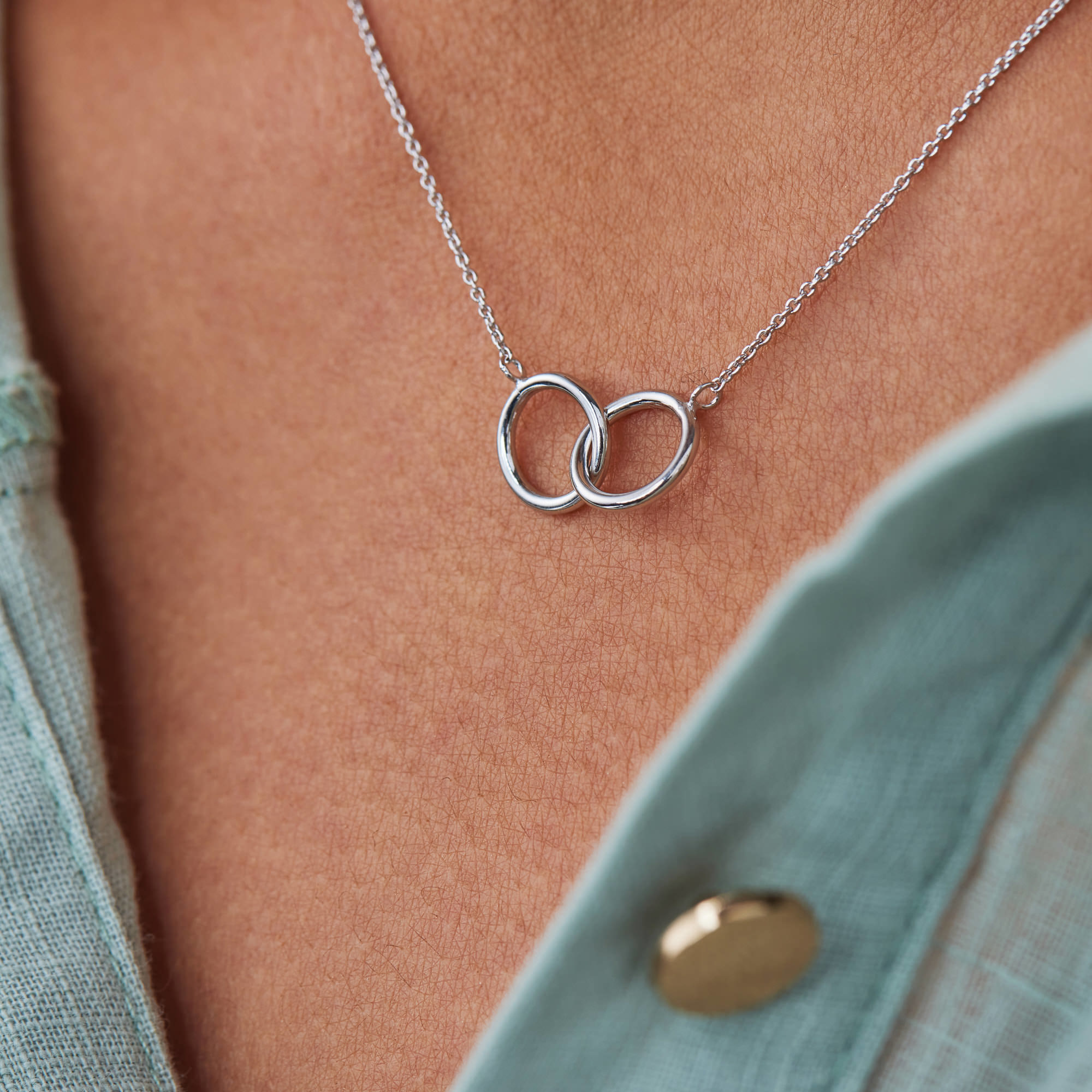 Selected Jewels Zoé 925 sterling silver necklace with circles