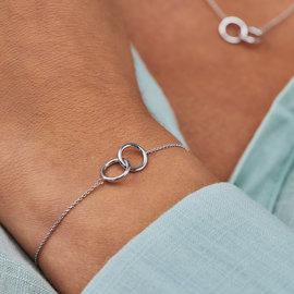 Selected Jewels Zoé 925 sterling zilveren armband met rondjes