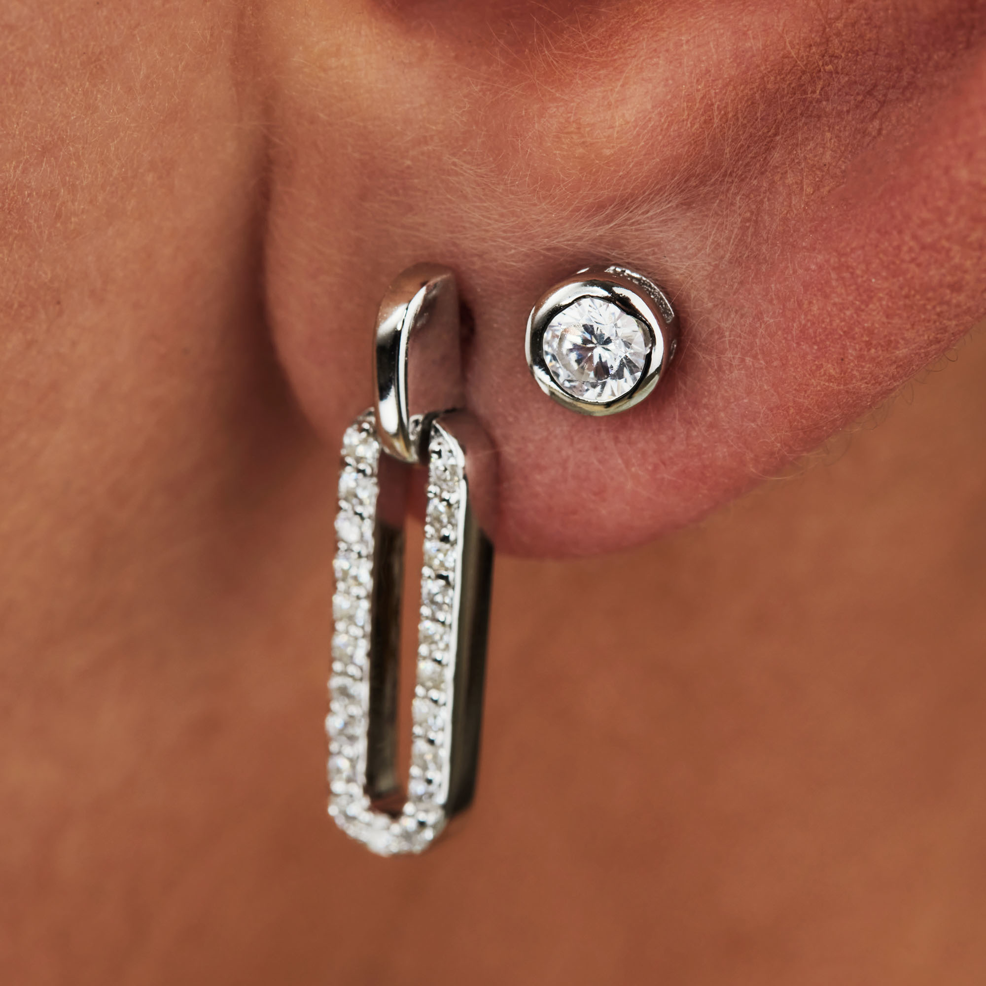 Selected Jewels Mila Elodie 925 sterling silver ear studs with zirconia