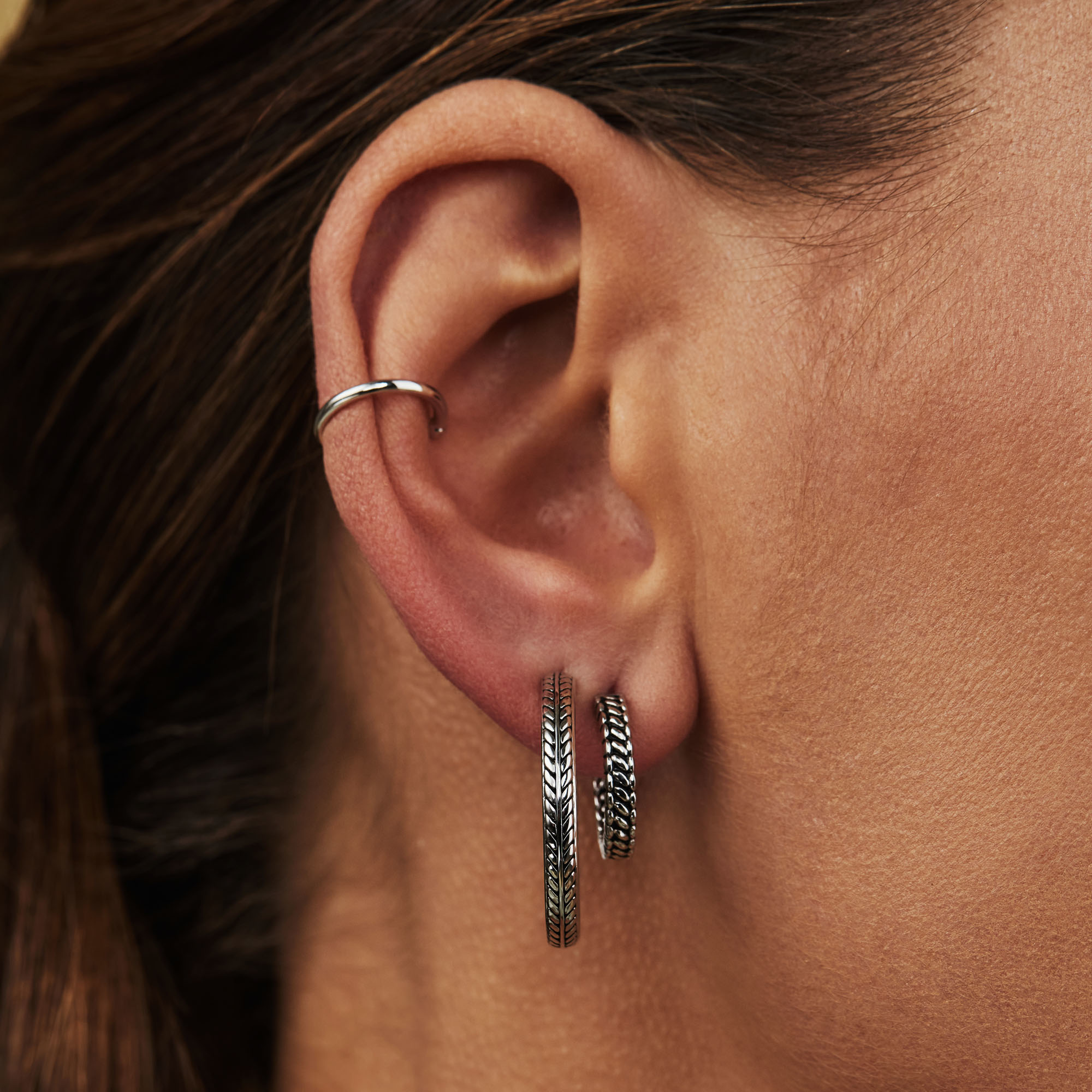 Selected Jewels Léna Claire 925 sterling silver creoles