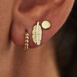 Selected Jewels Selected Gifts 925 sterling zilveren goudkleurige set van 3 oorbellen