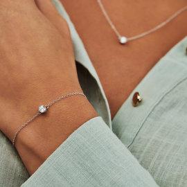 Selected Jewels Selected Gifts 925 sterling zilveren set armband en ketting met zirkonia