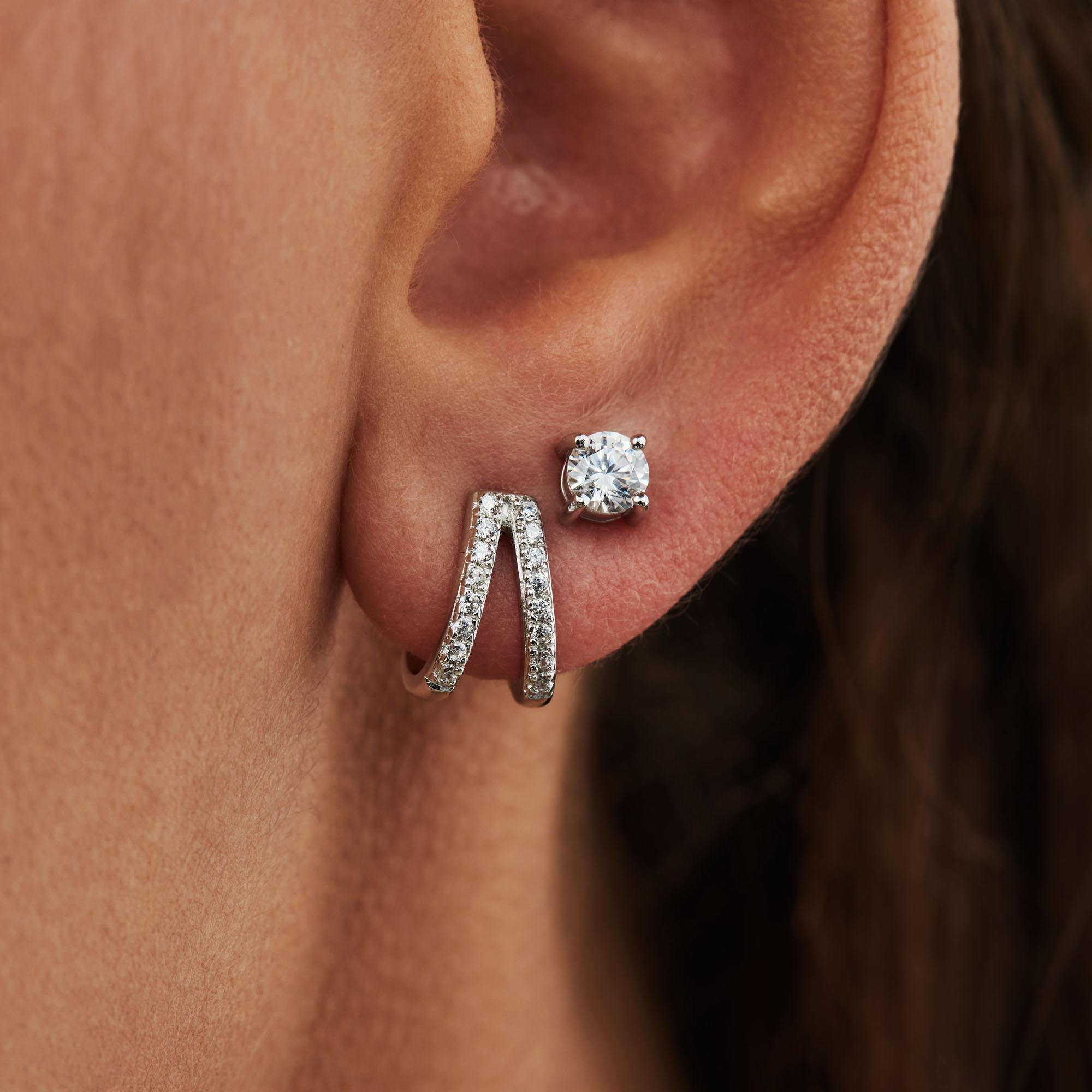 Selected Jewels Selected Gifts 925 sterling zilveren set van 2 oorbellen