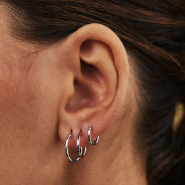 Selected Jewels Selected Gifts 925 sterling zilveren oorbellen set van 3 creolen