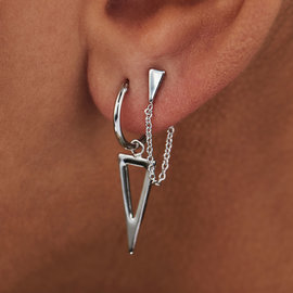 Selected Jewels Selected Gifts 925 sterling silver set of 2 earrings with triangles