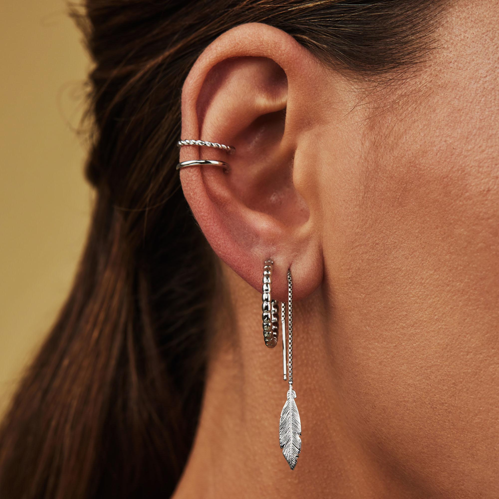 Selected Jewels Léna Joy ear cuff singolo in argento sterling 925