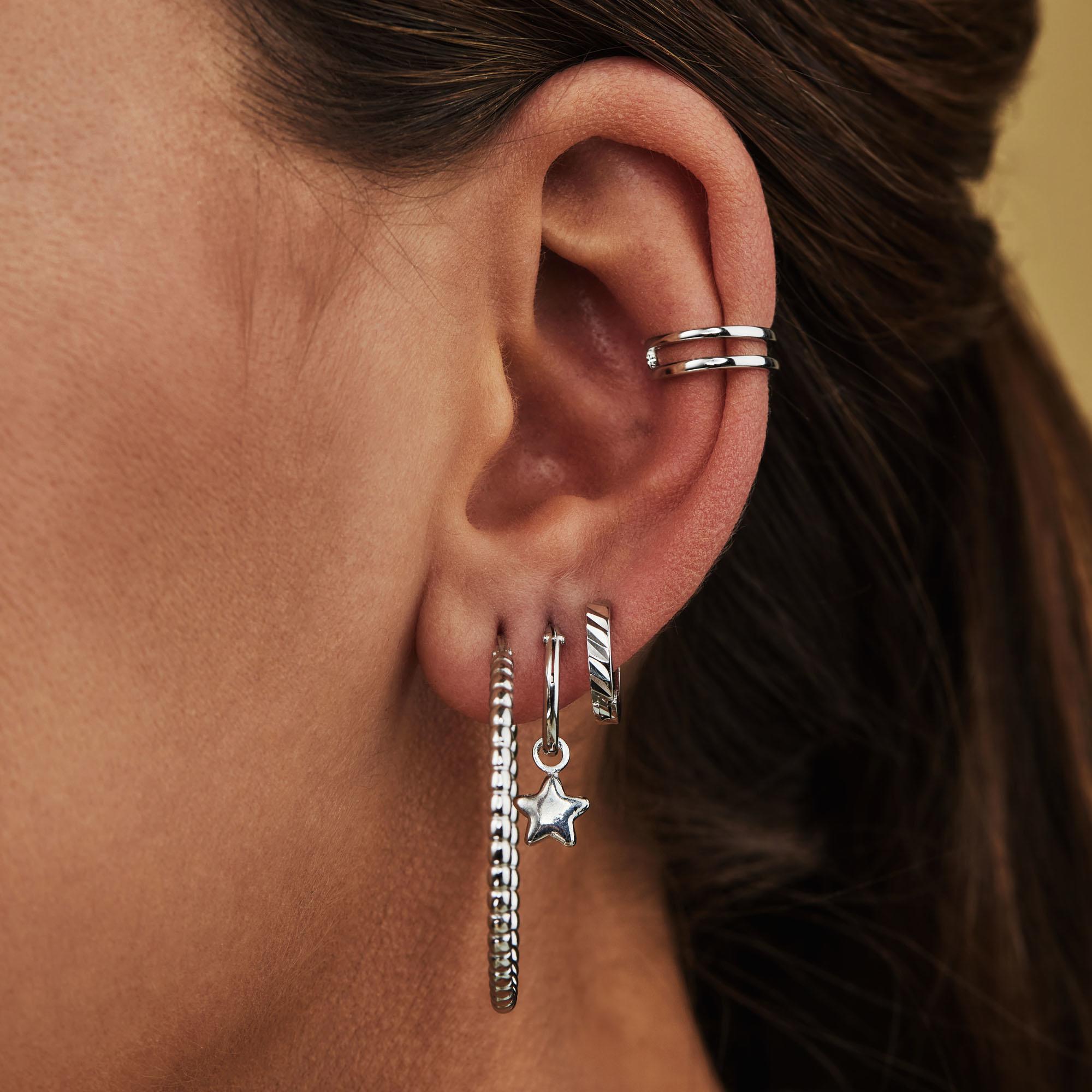 Selected Jewels Julie Esthée créoles en argent sterling 925