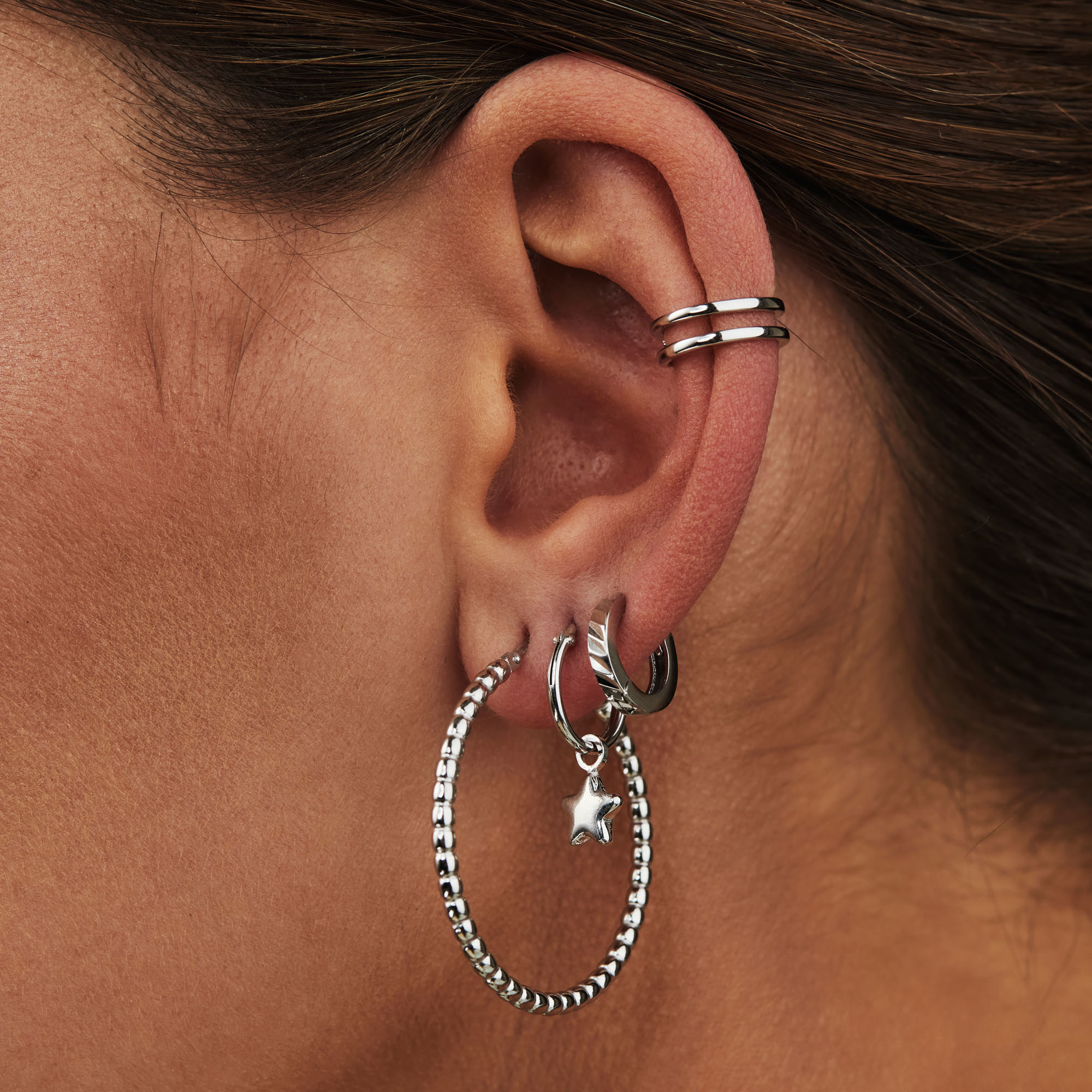 Selected Jewels Léna Manon 925 sterling silver hoop earrings