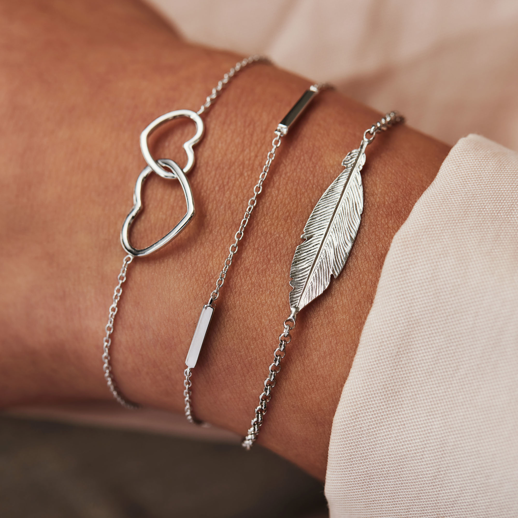 Selected Jewels Julie Lucie 925 sterling zilveren armband met veertje