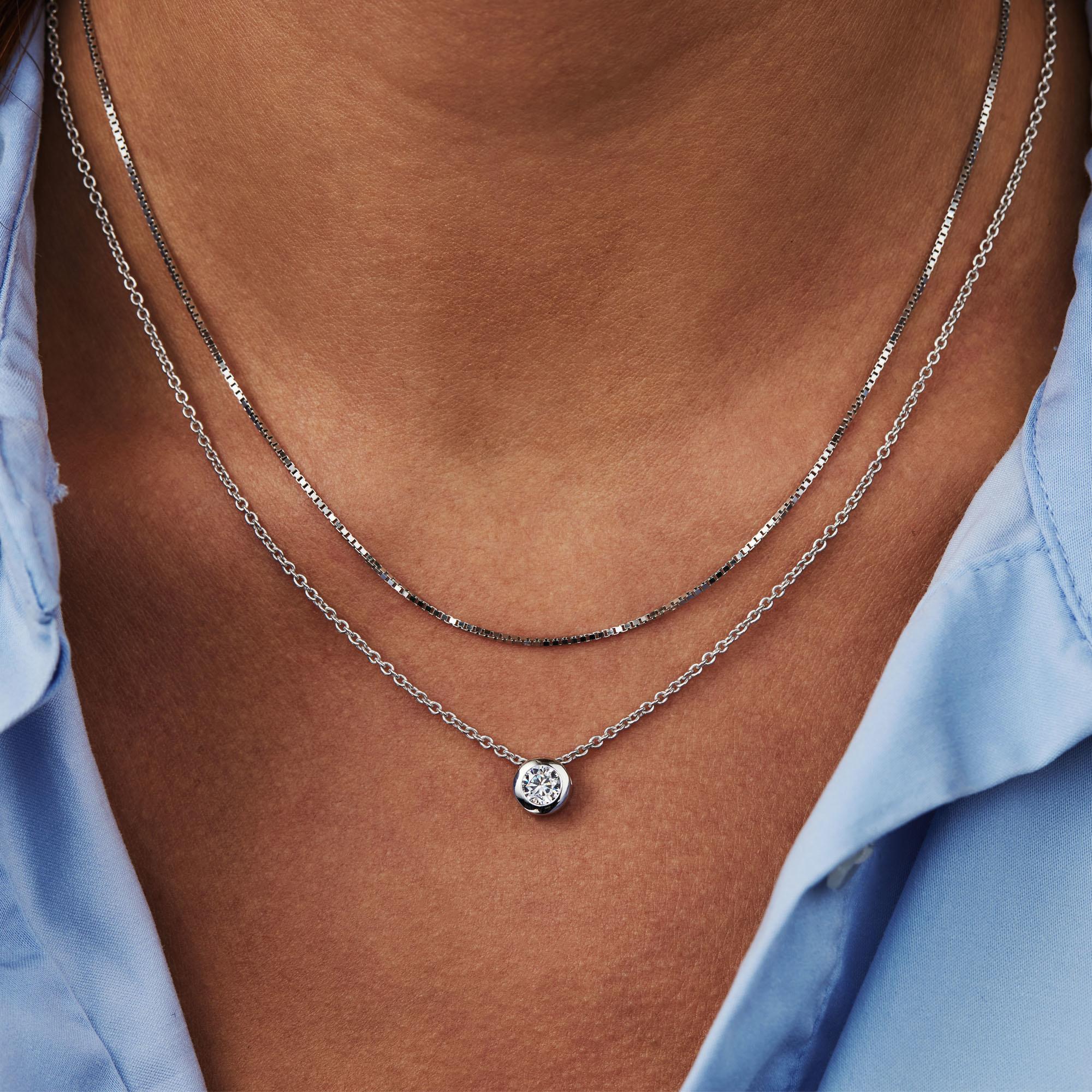 Selected Jewels Léna Inès 925 sterling sølv halskæde