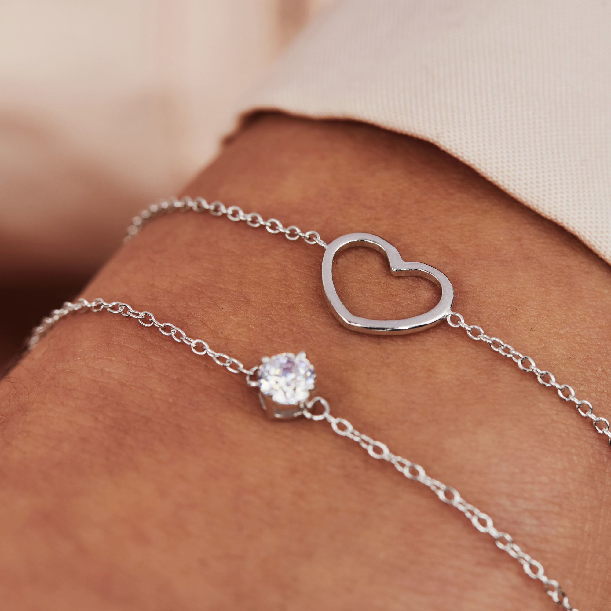 Selected Jewels Aimée 925 sterling silver bracelet with heart