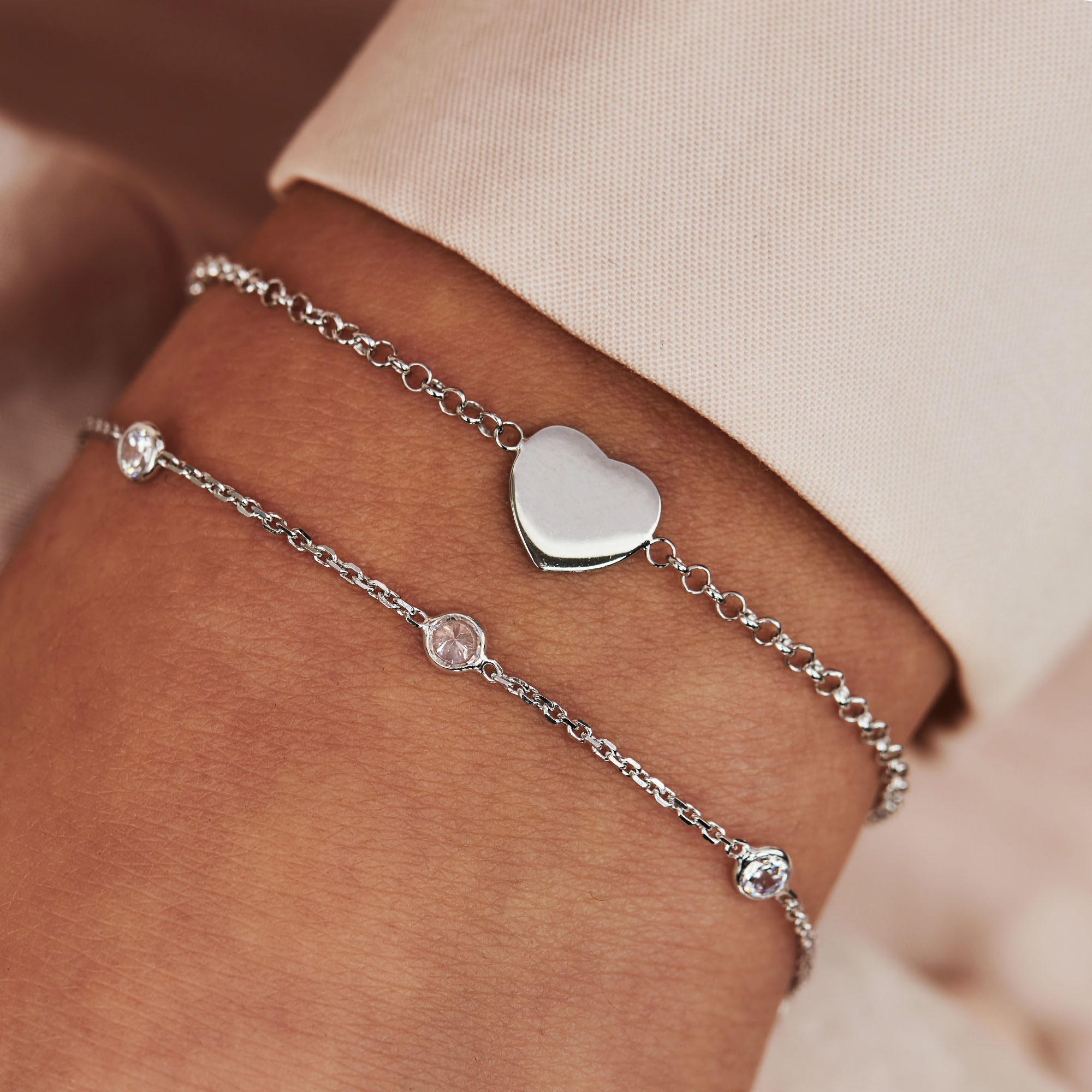 Selected Jewels Mila Elodie 925 sterling silver bracelet with zirconia