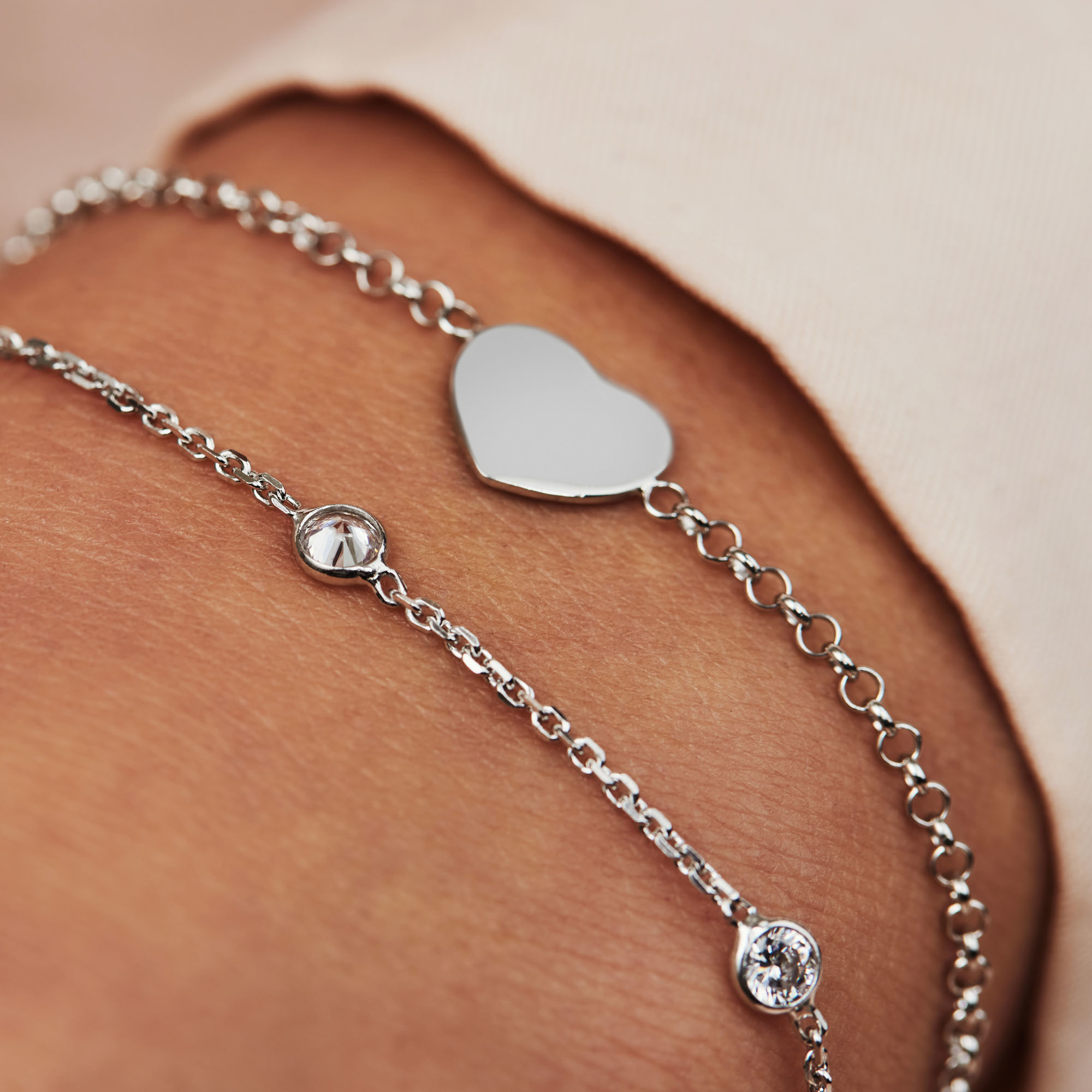 Selected Jewels Mila Elodie bracciale in argento sterling 925