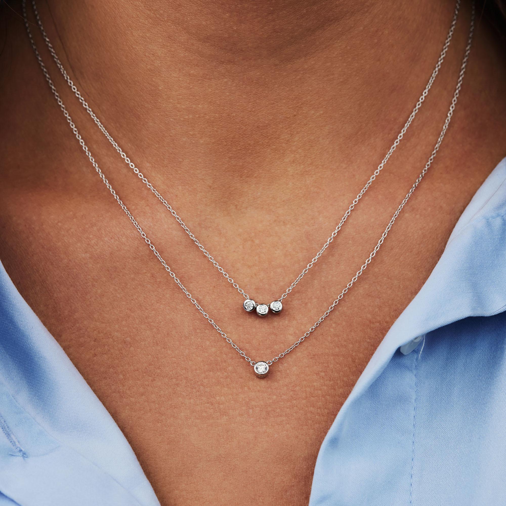 Selected Jewels Mila Elodie 925 sterling sølv dobbelt halskæde