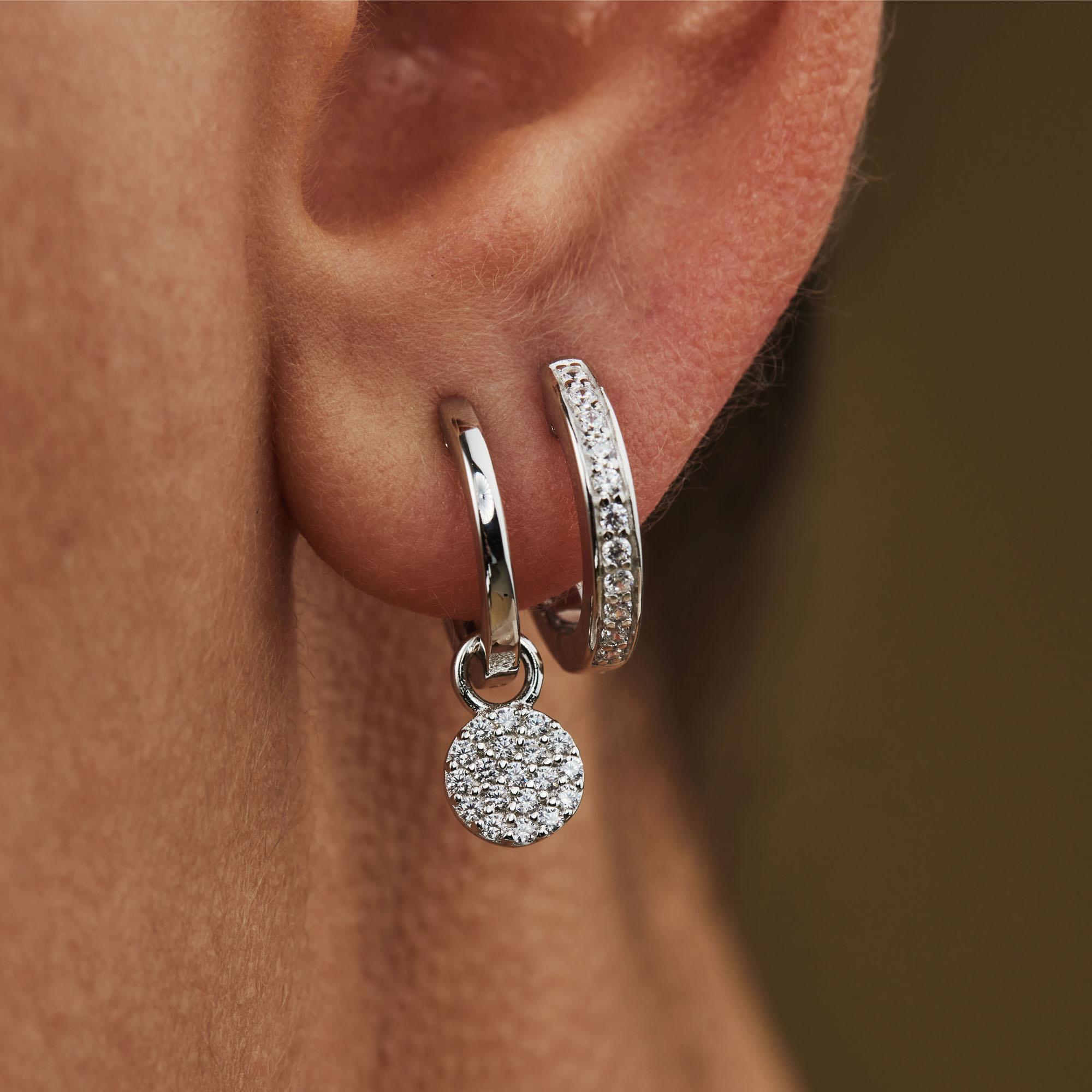 Selected Jewels Mila Elodie 925 sterling silver hoop earrings with zirconia