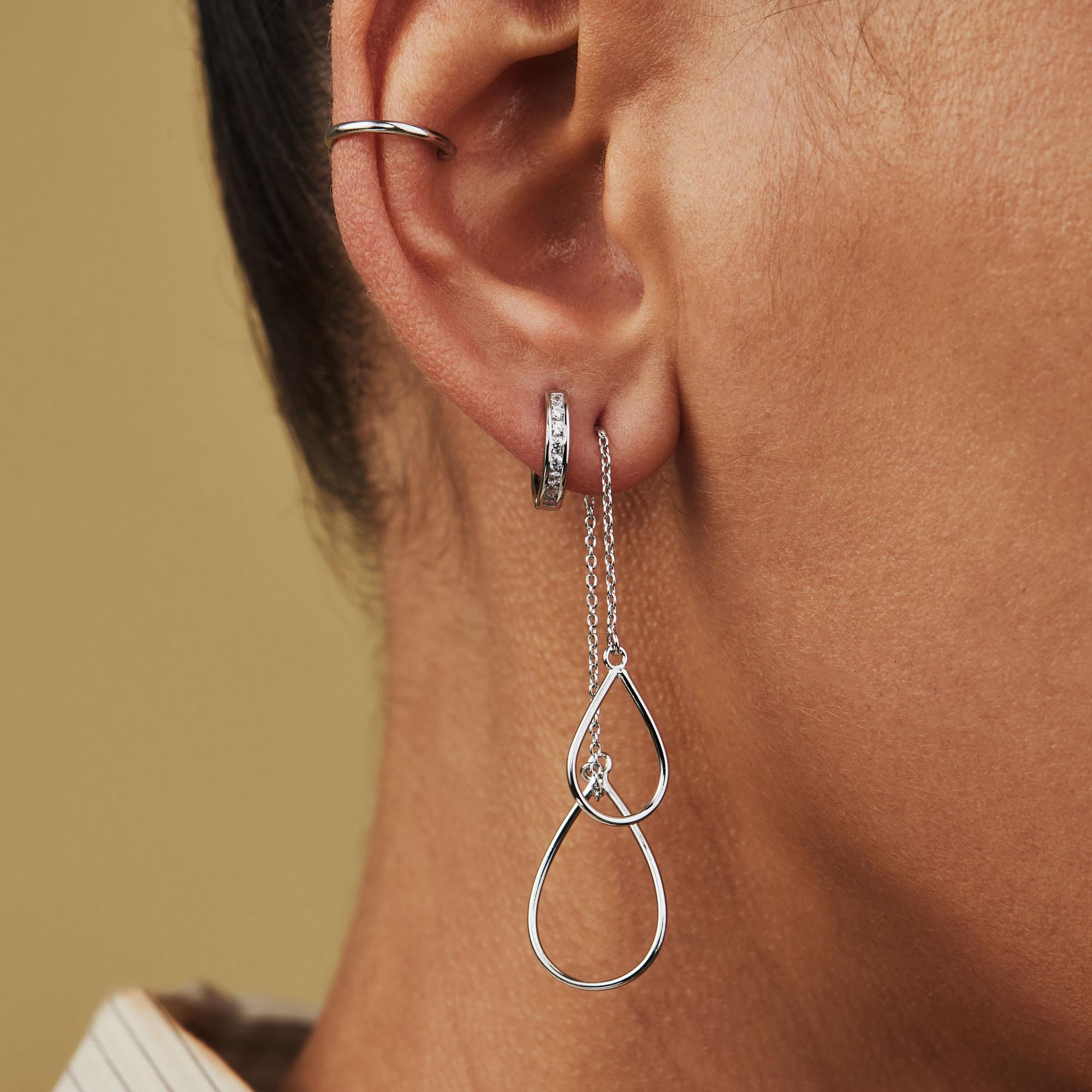 Selected Jewels Mila Elodie 925 Sterling Silber Creolen