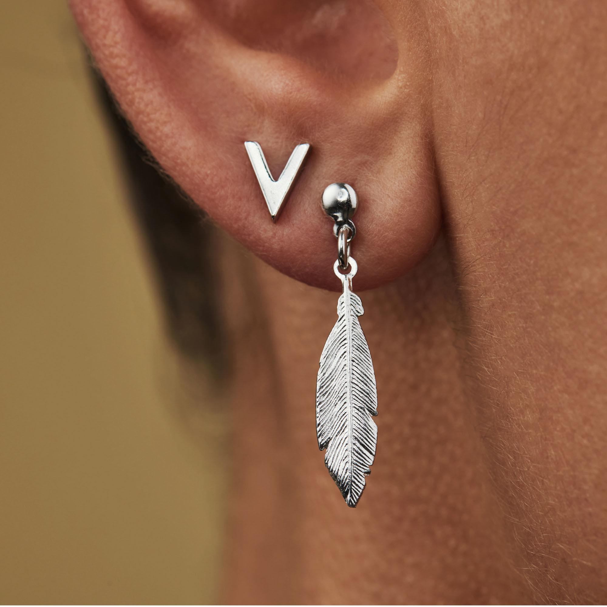 Selected Jewels Julie Charlotte clous d'oreilles en argent sterling 925
