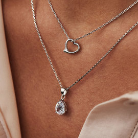 Selected Jewels Aimée 925 sterling silver necklace with heart