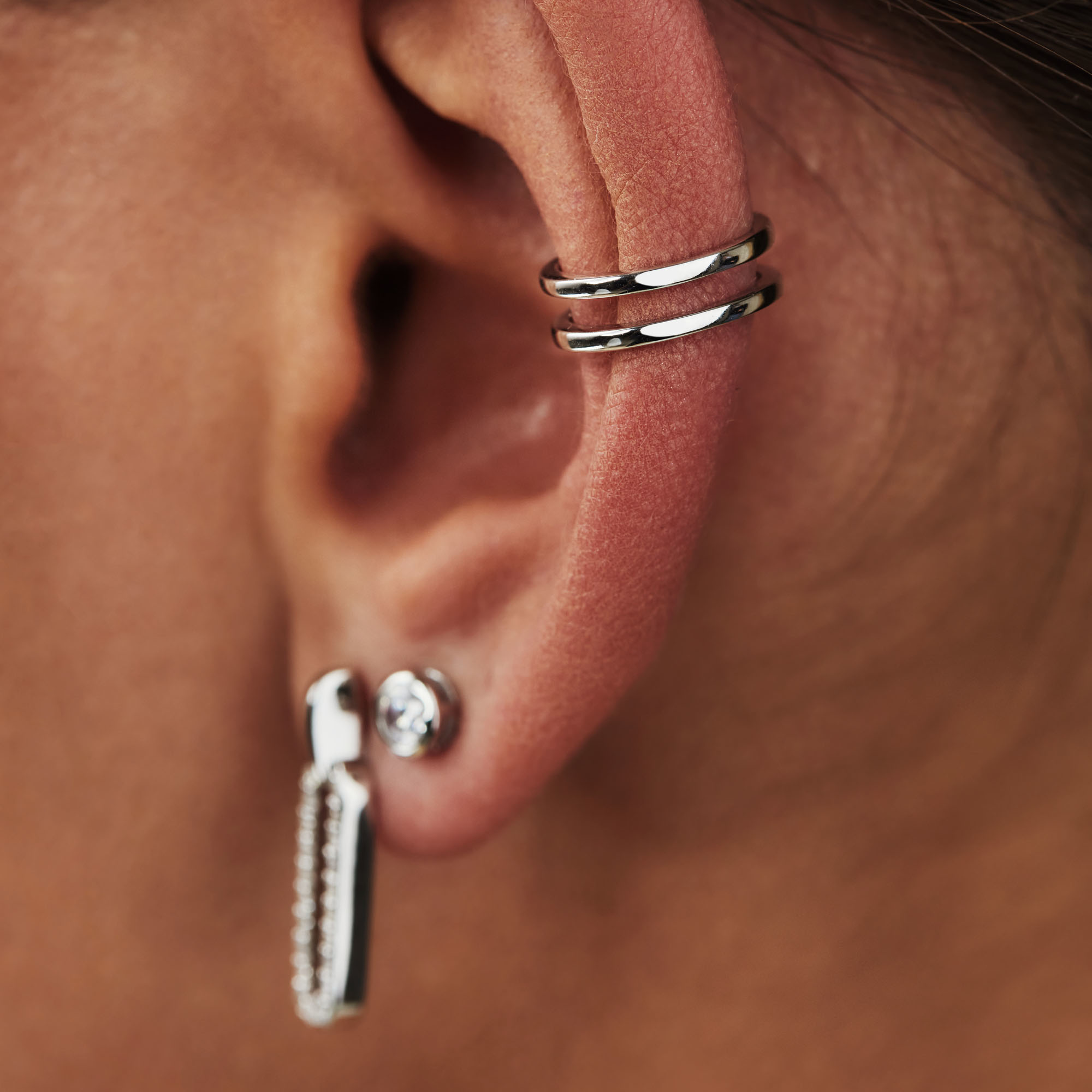 Selected Jewels Léna Joy ear cuff singolo in argento sterling 925
