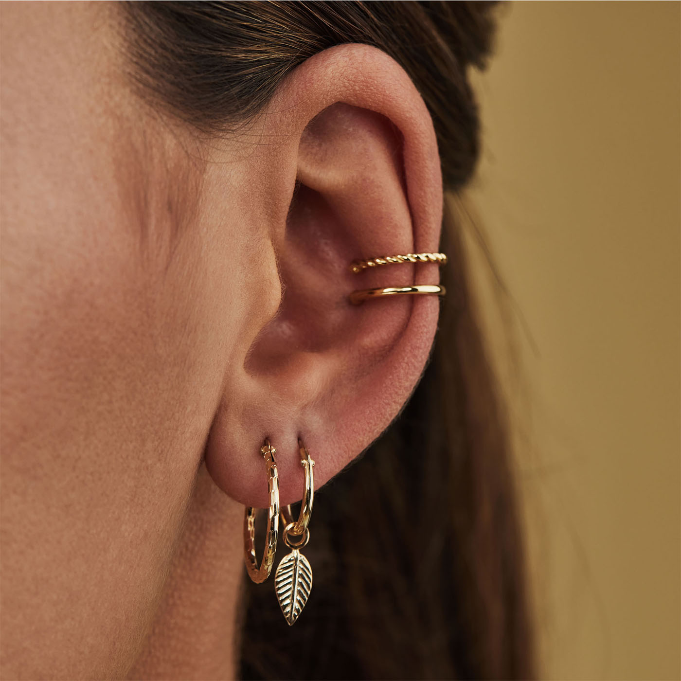 Selected Jewels Zoé 925 sterling silver gold colored creoles