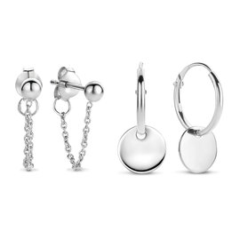 Selected Jewels Selected Gifts 925 sterling zilveren set van 2 oorbellen